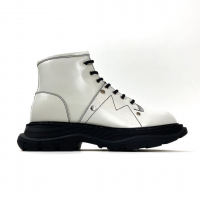 Ботинки Alexander McQueen Tread Slick White (Мех)