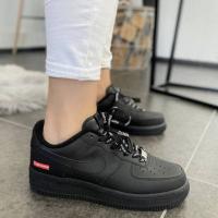 Кроссовки Nike Air Force 1 Low Black Supreme