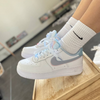 Кроссовки Nike Air Force 1 Low LV8 Double Swoosh Light Armory Blue