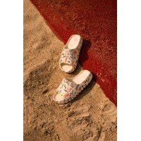 Тапки Adidas Yeezy Slide Bone Graffiti