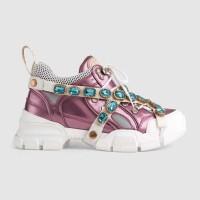 Кроссовки Gucci Flashtrek Pink White
