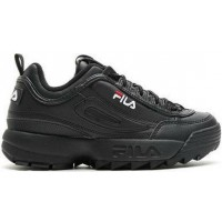 "Кроссовки Fila Disruptor II Leather ""Black/Black"""