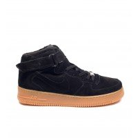 "Зимние  кроссовки Nike Air Force 1 High ""Black Gum"" Winter"